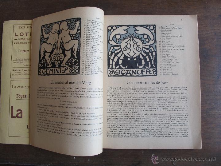 Coleccionismo Calendarios: Calendario catalán PAPITU de 1912 - Foto 3 - 43930955