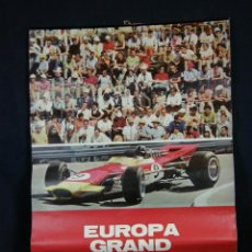 Coleccionismo Calendarios: CALENDARIO DE PARED EUROPA GRAND PRIX FIRESTONE 1969 2 MESES POR HOJA CIMASA COCHES CARRERAS. Lote 44626085