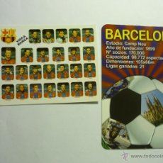 Coleccionismo Calendarios: LOTE CALENDARIOS FUTBOL BARCELONA C.F.1998-2012. Lote 44651711
