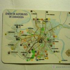 Coleccionismo Calendarios: CALENDARIO 2002 LINEAS AUTOBUSES ZARAGOZA. Lote 44789898