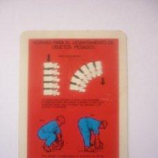 Coleccionismo Calendarios: FOURNIER 1969 COMISION DE SEGURIDAD EN LA INDUSTRIA SIDERURGICA. Lote 44841770