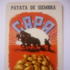 Coleccionismo Calendarios: FOURNIER 1972 PATATA DE SIEMBRA CAPA VITORIA. Lote 44841803