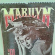 Coleccionismo Calendarios: PRECIOSO CALENDARIO DE MARILYN MONROE 1991 (SIN ESTRENAR)EXTRANJERO. Lote 45173045