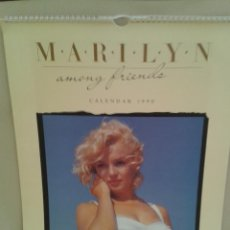 Coleccionismo Calendarios: CALENDARIO DE MARILYN MONROE 1990 ,AMONG FRIENDS,IMPECABLE.. Lote 45173132