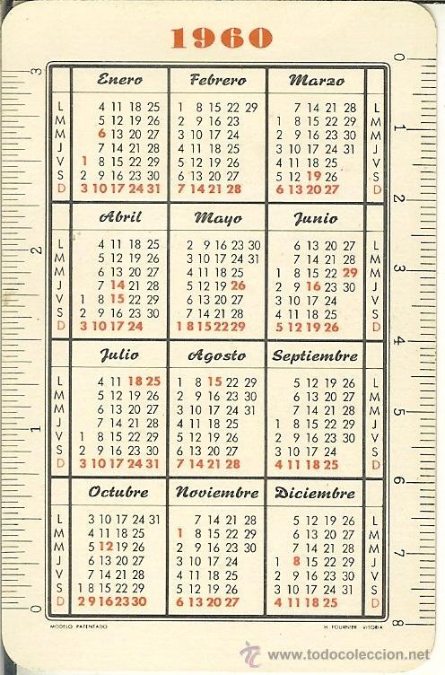 Calendario 1960.Calendario Fournier Bancos 1960 Banco Esp Sold At