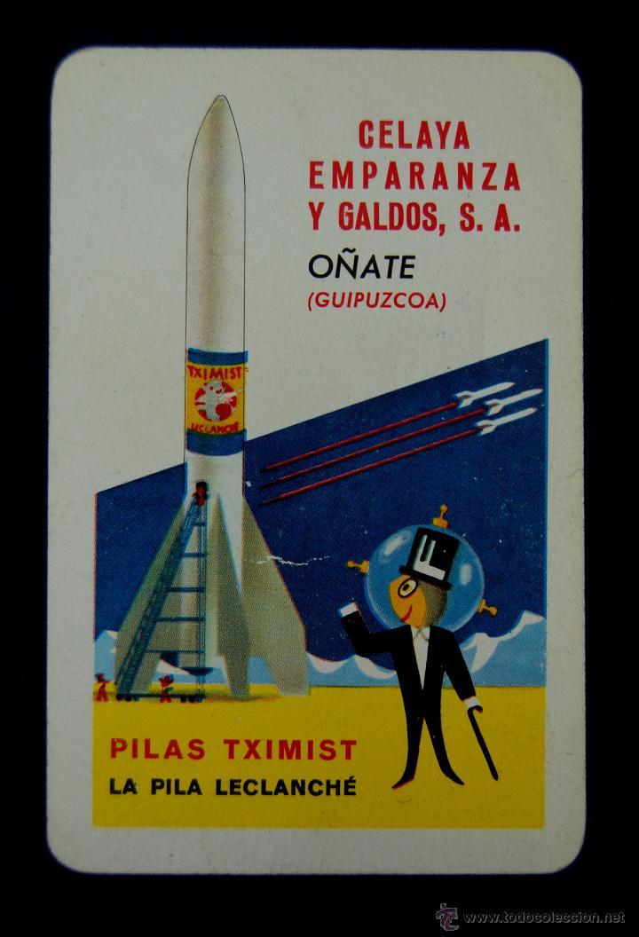 CALENDARIO FOURNIER. PILAS TXIMIST. CELAYA EMPARANZA Y GALDOS. OÑATE (GUIPUZCOA). 1962 (Coleccionismo - Calendarios)
