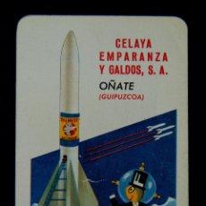 Coleccionismo Calendarios: CALENDARIO FOURNIER. PILAS TXIMIST. CELAYA EMPARANZA Y GALDOS. OÑATE (GUIPUZCOA). 1962. Lote 45219571