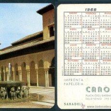 Coleccionismo Calendarios: CALENDARIOS BOLSILLO - GRANADA 1968. Lote 125235236