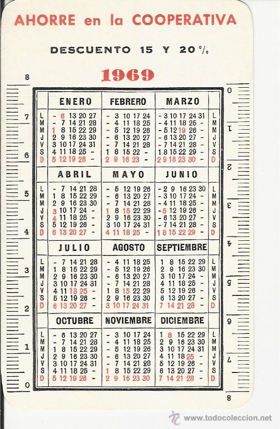 Calendario Del Ano 1969.Calendario Ano 1969 Ahorre En La Cooperativa Cooperativa Universitaria San Jorge