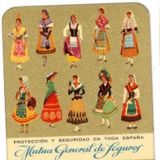 Coleccionismo Calendarios: CALENDARIO MUTUA GENERAL DE SEGUROS AÑO 1965. Lote 45397642