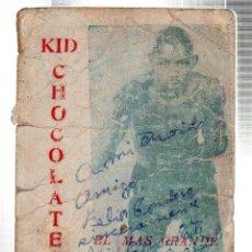 Coleccionismo Calendarios: CALENDARIO DE KID CHOCOLATE CON DEDICATORIA Y FIRMA. BOXEO. CUBA.. Lote 116646803