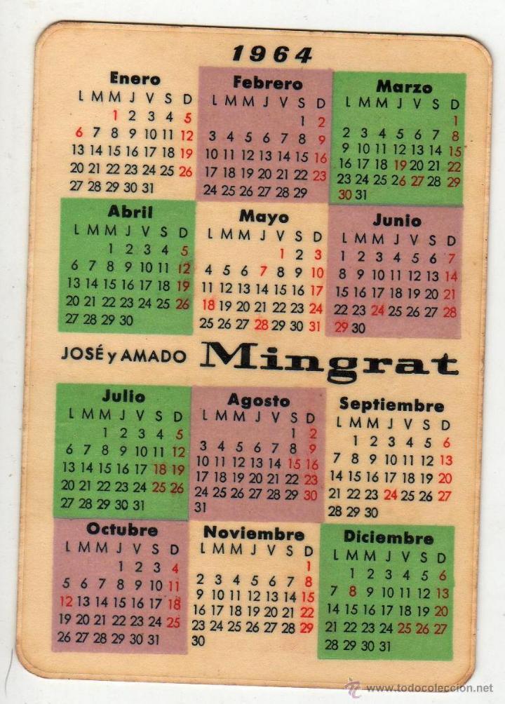 Calendario Del Barcelona.Calendario 1964 Mingrat Barcelona