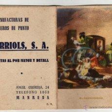 Coleccionismo Calendarios: CALENDARIO ALMANAQUE 1949 ORRIOLS MANRESA. Lote 45631564