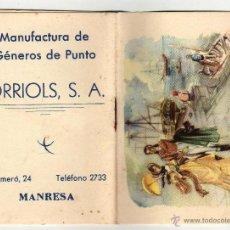 Coleccionismo Calendarios: CALENDARIO ALMANAQUE 1959 ORRIOLS, S. A. MANRESA. Lote 45631626