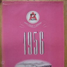 Coleccionismo Calendarios: CALENDARIO DE PARED 1956- MAQUINAS DE COSER ALFA - COMPLETO . Lote 45687054