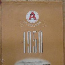 Coleccionismo Calendarios: CALENDARIO DE PARED 1958- MAQUINAS DE COSER ALFA - COMPLETO . Lote 45687068