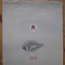 Coleccionismo Calendarios: CALENDARIO DE PARED 1959- MAQUINAS DE COSER ALFA - COMPLETO . Lote 45687076