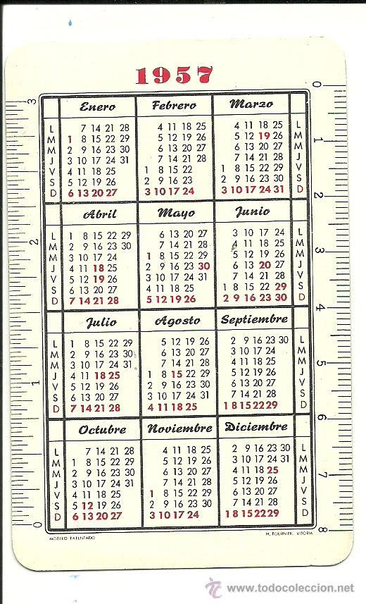 Calendario Del Ano 1957.Ca 165 G Calendario H Fournier Ano 1957 Fresad Vendido En