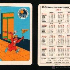 Coleccionismo Calendarios: CALENDARIO BOLSILLO, SERIE PUBLICIDAD, PUBLICADO PORTUGAL, AÑO:1985 - SOCIEDADE FIGUEIRA PRAIA, BING. Lote 45872976