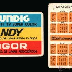 Coleccionismo Calendarios: CALENDARIO BOLSILLO, SERIE PUBLICIDAD, PUBLICADO PORTUGAL, AÑO:1982 - GRUNDIG, CANDY, FAGOR. Lote 68812234