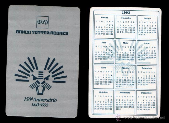 Calendario Serie A 17 18.Calendario Serie Bancos Editado Portugal Ano 1993 Banco Totta Acores