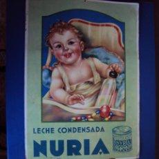 Coleccionismo Calendarios: (PUB-1014)CALENDARIO GRAN FORMARO,LECHE CONDENSADA NURIA,AÑO 1937-GUERRA CIVIL. Lote 46052740