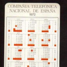 Coleccionismo Calendarios: CALENDARIO DE 1972 PUBLICIDAD COMPAÑIA TELEFONICA DE ESPAÑA , MAS EN MI TIENDA EL RINCON DE JJ . Lote 46336463