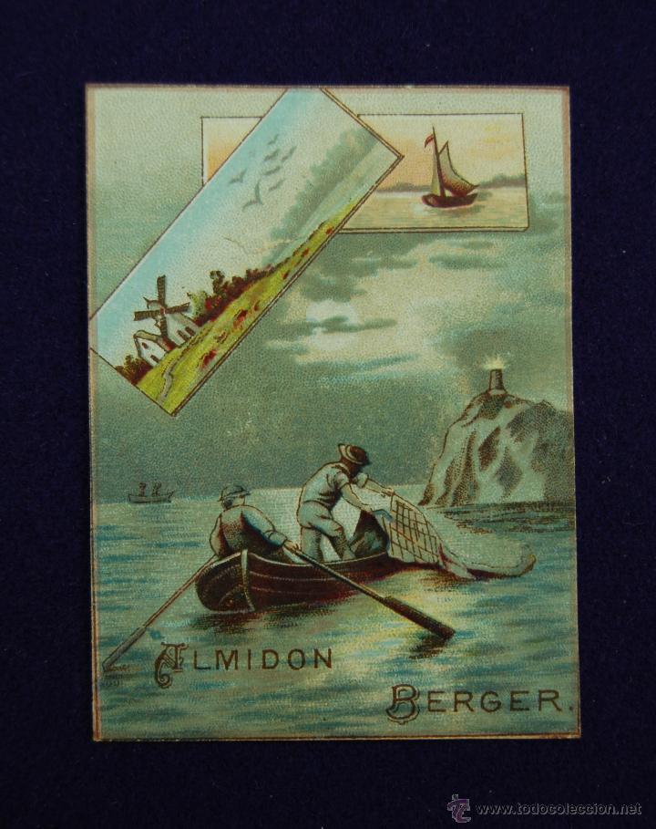 ANTIGUO CALENDARIO DE 1889. ALMIDON BERGER. 7,5 X 5,5 CM. EN PERFECTO ESTADO DE CONSERVACION. (Coleccionismo - Calendarios)