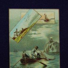 Coleccionismo Calendarios: ANTIGUO CALENDARIO DE 1889. ALMIDON BERGER. 7,5 X 5,5 CM. EN PERFECTO ESTADO DE CONSERVACION.. Lote 46376785