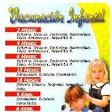 Coleccionismo Calendarios: 11-04RR98. CALENDARIO VACUNACIÓN INFANTIL. Lote 46453514