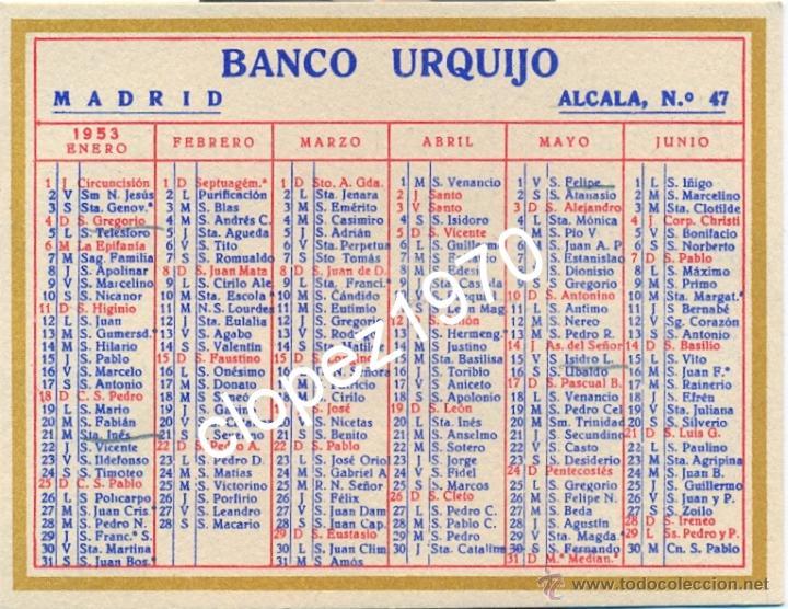 Calendario Santoral.Calendario De Bolsillo Con Santoral Ano 1953 Pu Vendido En