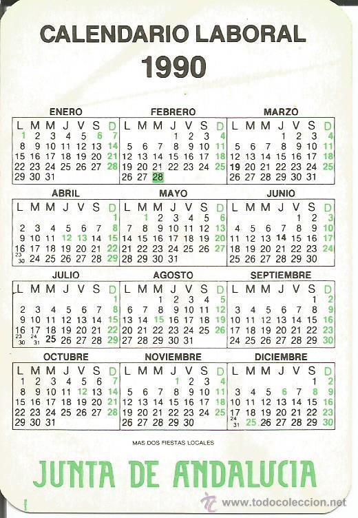 1990 Calendario.Almanaque Calendario De Bolsillo 1990 Calenda Sold