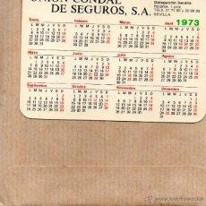 Coleccionismo Calendarios: CALENDARIO DE UNION CONDAL DE SEGUROS AÑO 1973 Y 1974. Lote 46544065