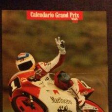 Coleccionismo Calendarios: CALENDARIO GRAND PRIX 90, MOTOCICLISMO - TAMAÑO 30X52 CM. Lote 46583002