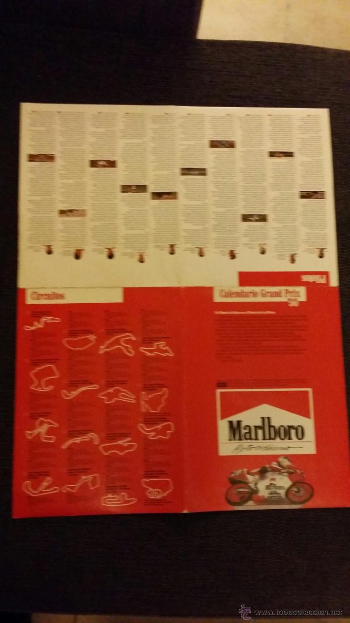 Coleccionismo Calendarios: Calendario Grand Prix 90, Motociclismo - Tamaño 30x52 cm - Foto 2 - 46583002