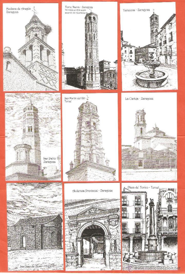18 CALENDARIOS DE BOLSILLO AÑO 2002 DIBUJOS A PLUMILLA DE ZARAGOZA (SERIE COMPLETA) (Coleccionismo - Calendarios)
