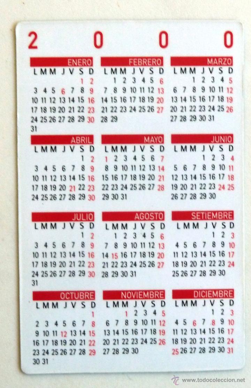 Calendario Del 2000.Calendario Bolsillo Reloj Blumar Ano 2000 Motos