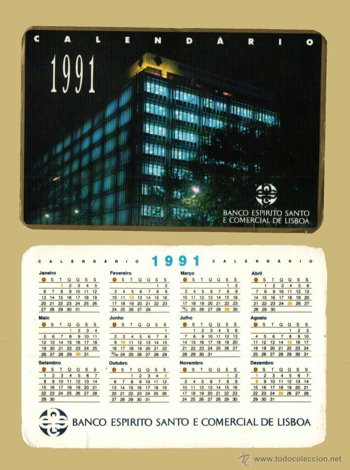 Calendario Serie A 17 18.Calendario Serie Bancos Editado Portugal Ano 1991 Banco Espirito Santo