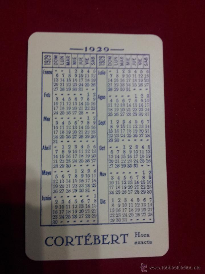 Calendario 1929.Pc 315 Calendario Ano 1929 Relojes Corteber Sold