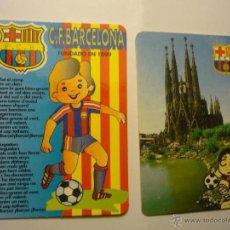 Coleccionismo Calendarios: LOTE CALENDARIOS FUTBOL BARCELONA 1992-1995. Lote 47027912