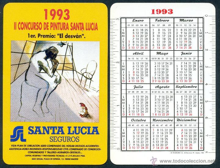 CALENDARIOS BOLSILLO - NAIPES HERACLIO FOURNIER 1993. II CONCURSO DE PINTURA SANTA LUCIA (Coleccionismo - Calendarios)