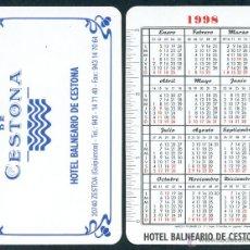 Coleccionismo Calendarios: CALENDARIOS BOLSILLO - NAIPES HERACLIO FOURNIER 1998. BALNEARIO. Lote 112069743