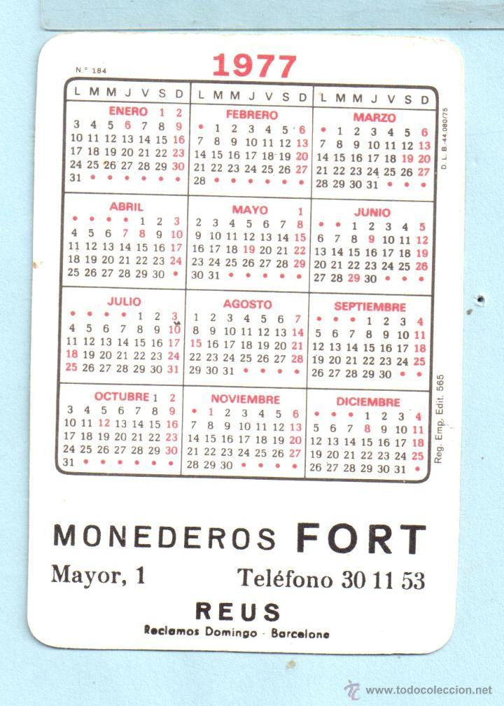 Calendario Del 1977.Calendario De Dibujos Del Ano 1977 Con Publicidad De Reus