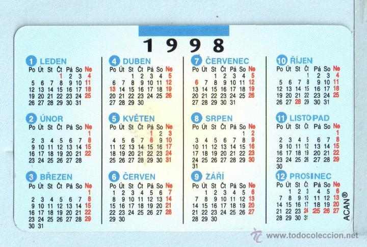 1998 Calendario.Calendario Extranjero De Autocar Del Ano 1998 Sin Publicidad