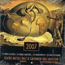 Coleccionismo Calendarios: CALENDARIO 2007 24 OBRAS MAESTRAS DE SALVADOR DALÍ (PRECINTADO). Lote 47129138