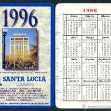 Coleccionismo Calendarios: CALENDARIOS BOLSILLO FOURNIER – SANTA LUCIA 1996. Lote 60365921