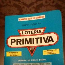 Coleccionismo Calendarios: CALENDARIO DINÁMICO DE LOTERÍA PRIMITIVA. AÑO 1986. Lote 47524194