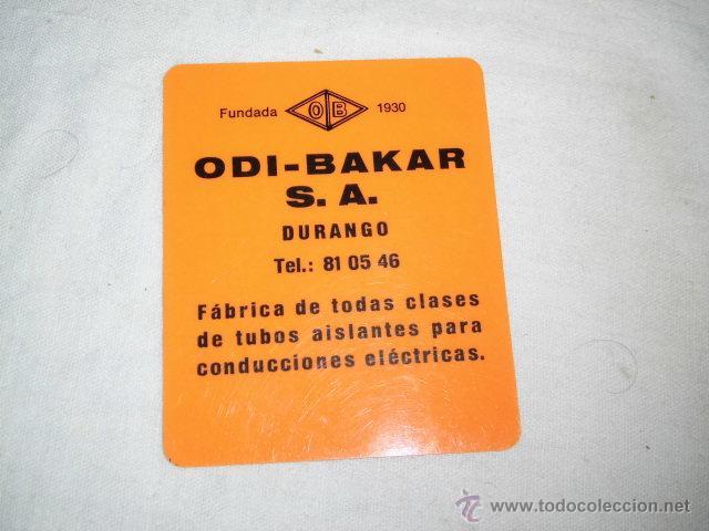 CALENDARIO PUBLICIDAD ODI-BAKAR S.A. DURANGO 1972 (Coleccionismo - Calendarios)