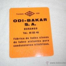 Coleccionismo Calendarios: CALENDARIO PUBLICIDAD ODI-BAKAR S.A. DURANGO 1972. Lote 47525239