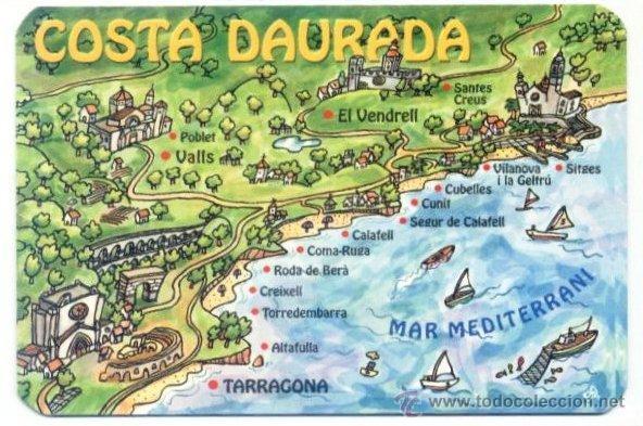 Calendario 2002 Mapa Costa Daurada Dorada P Sold Through